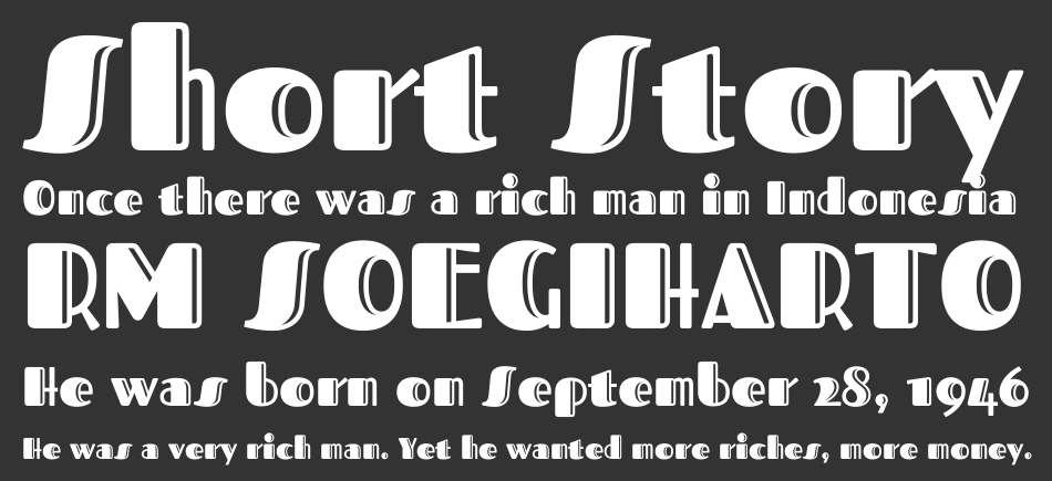 Fascinate Inline font
