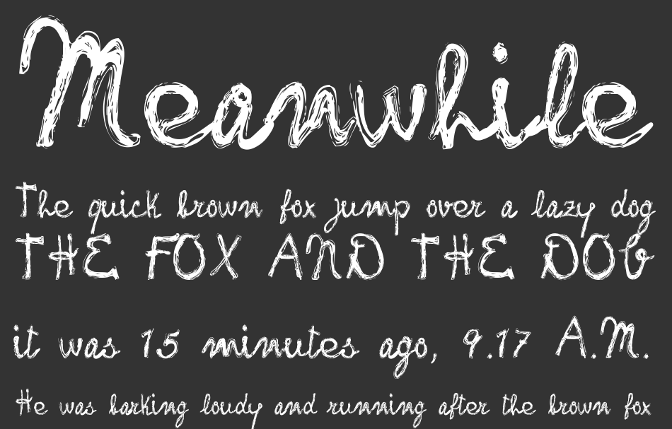 Frank Handwriting font