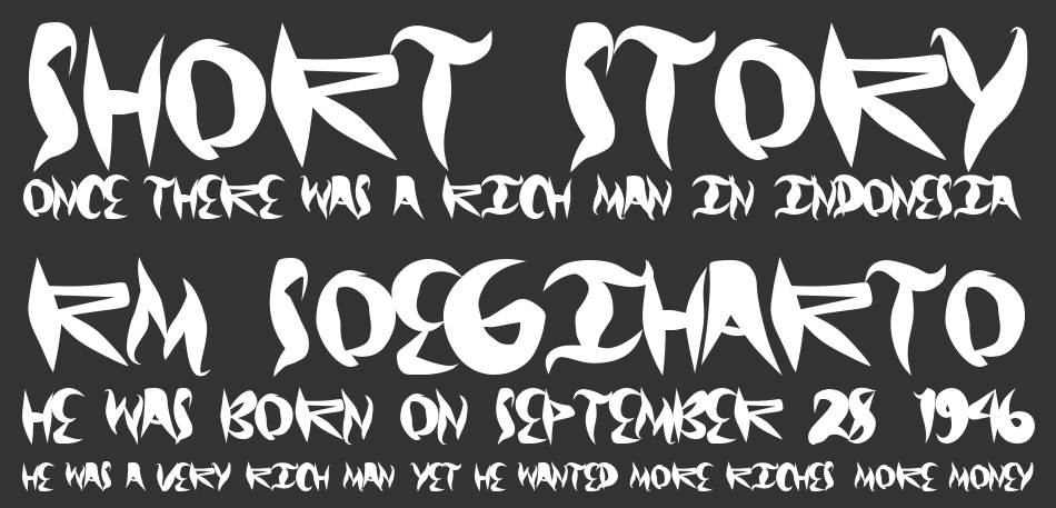Graffical font
