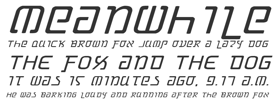 Grimlord Expanded Italic, Expanded Italic