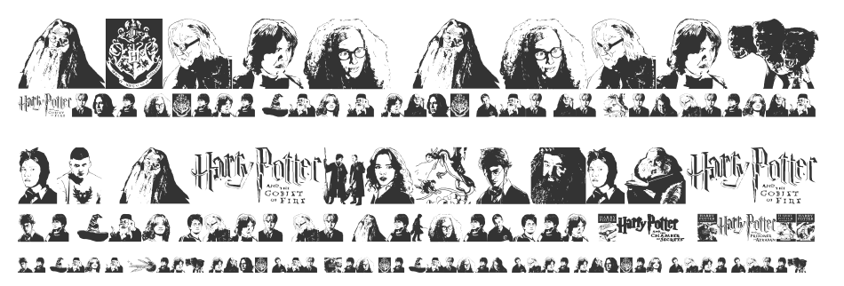 Harry Potter and the Dingbats font