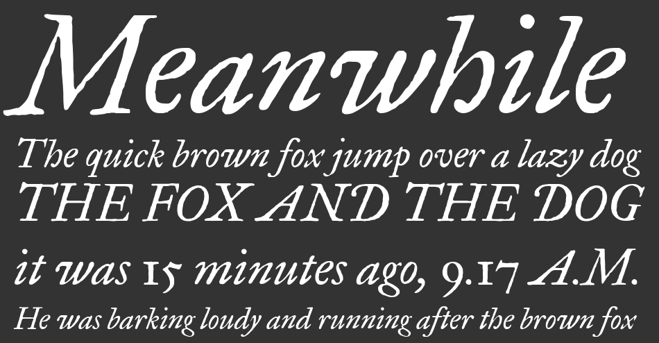 IM Fell Great Primer font