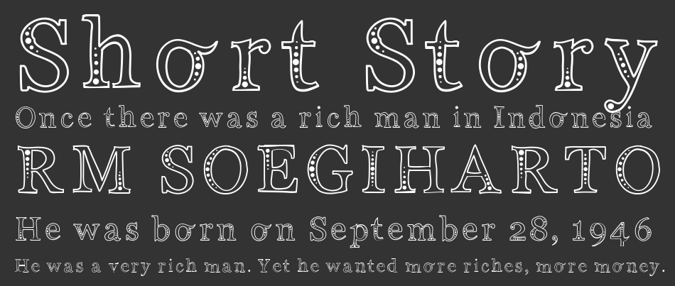 Indifference font