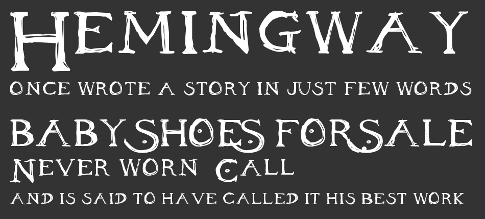 Inheritance Font, Regular