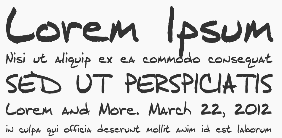 J.D. Handcrafted font