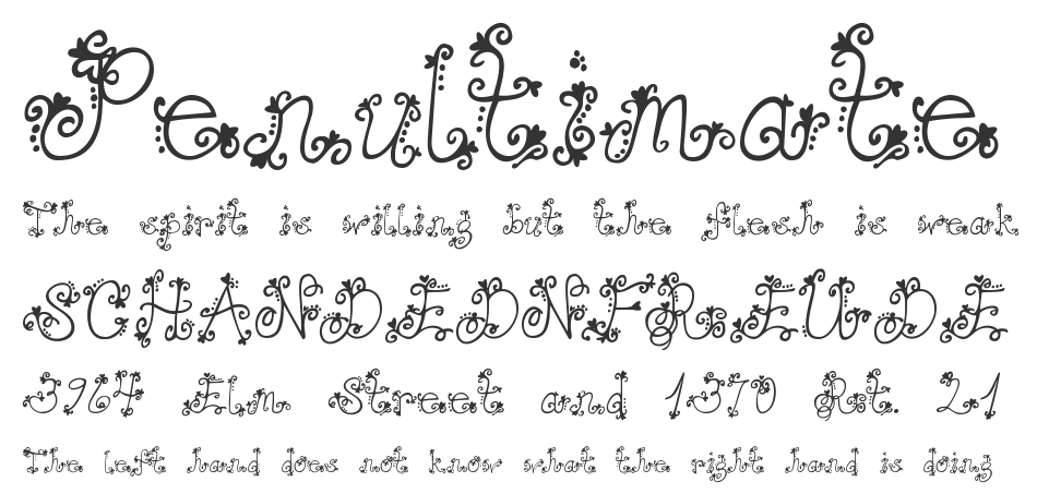 Janda Love And Rain font