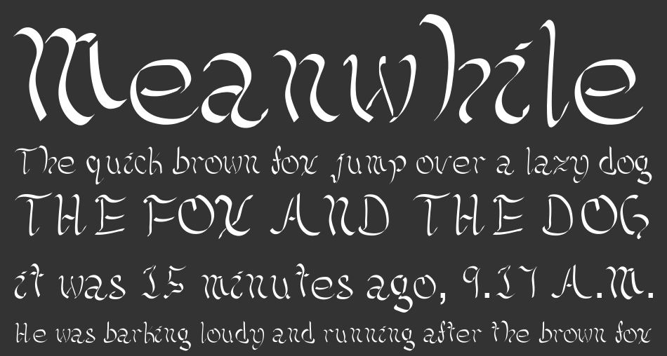 Kellicia Handwriting font