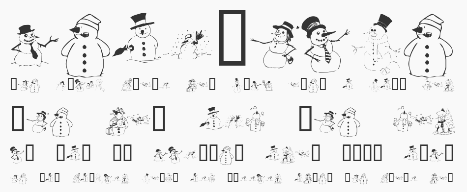 KR Snow People font