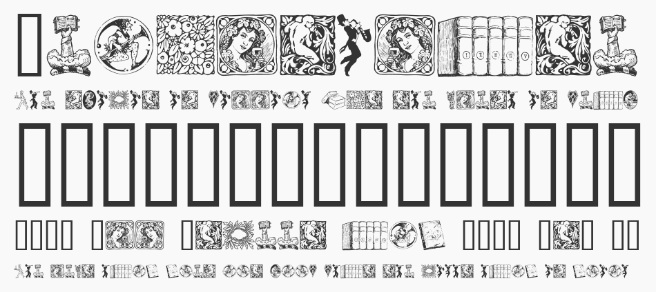 Listemagerens Ny Dingbats font