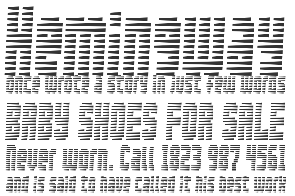 Maximum Security font