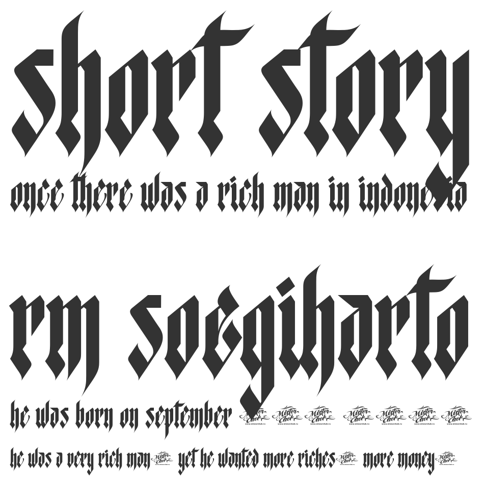 MCF Star Worms font