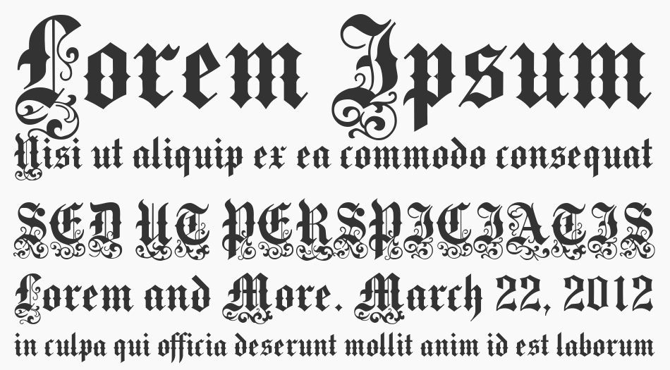 Medici Text, Regular