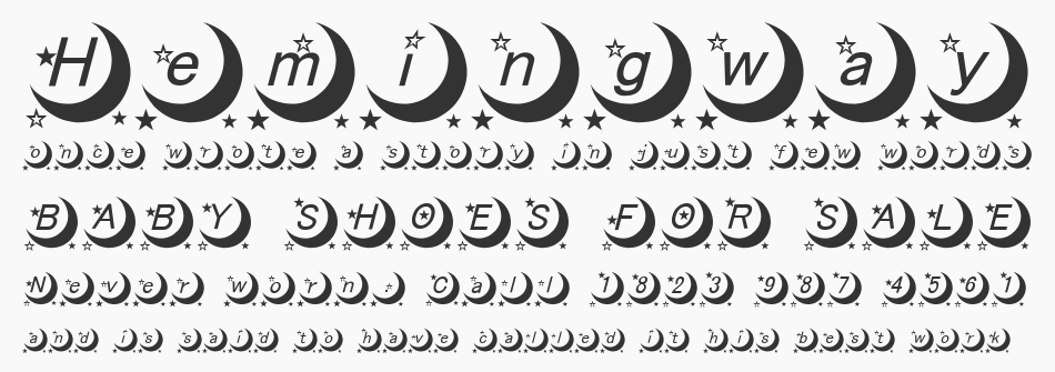 Moon Font, Regular