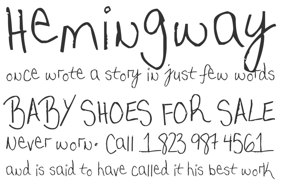 My very own handwriting font