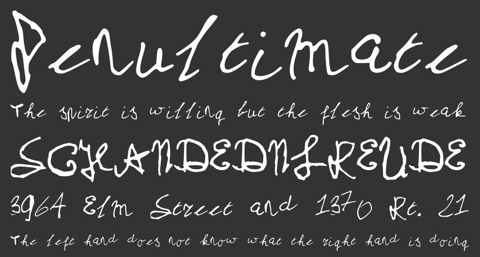 My School Handwriting font