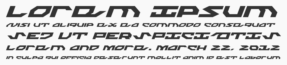 Nightrunner Expanded Italic, Expanded Italic