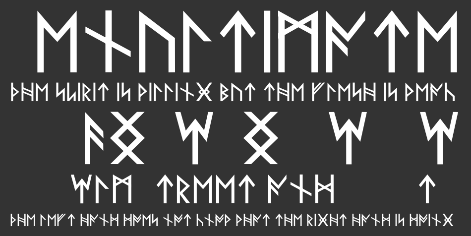 Norse Code font