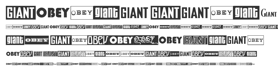 ObeyGiantPoster, Regular