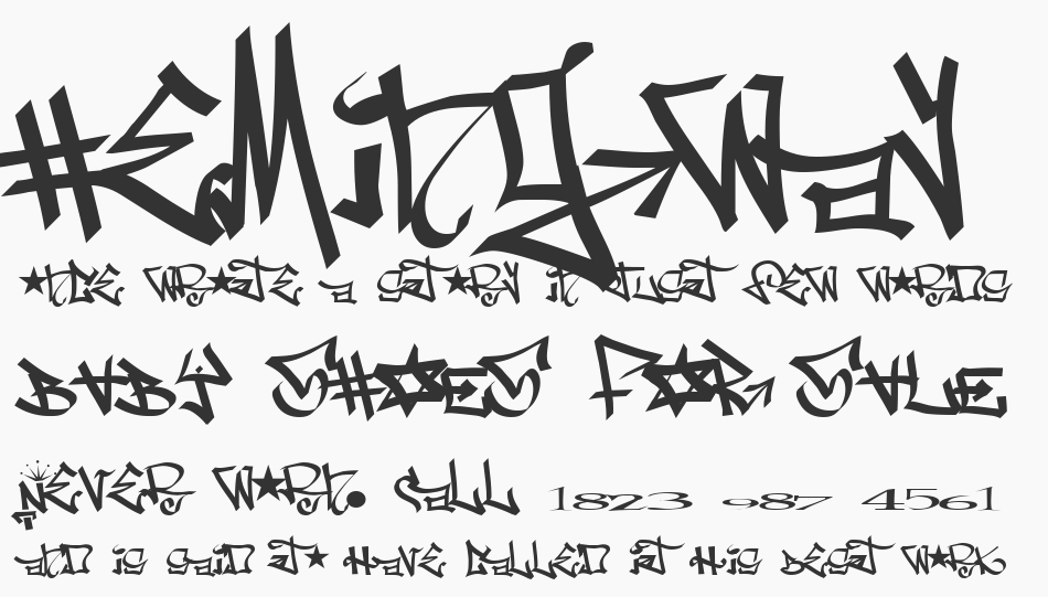One 8 Seven font