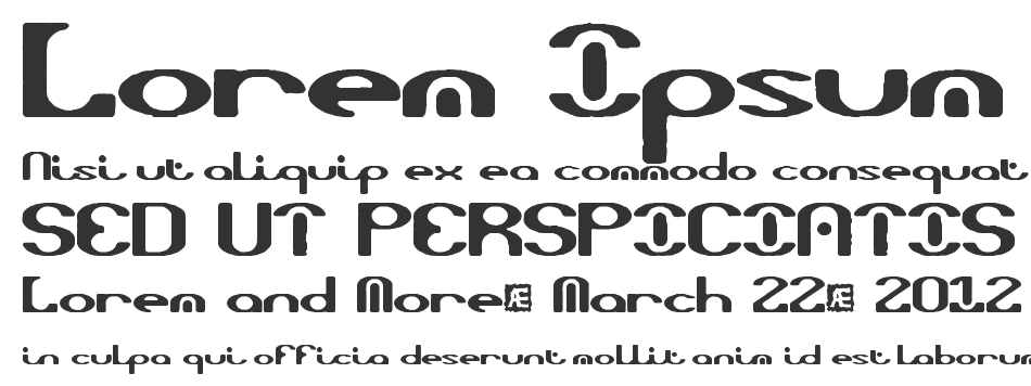 Opiated BRK font