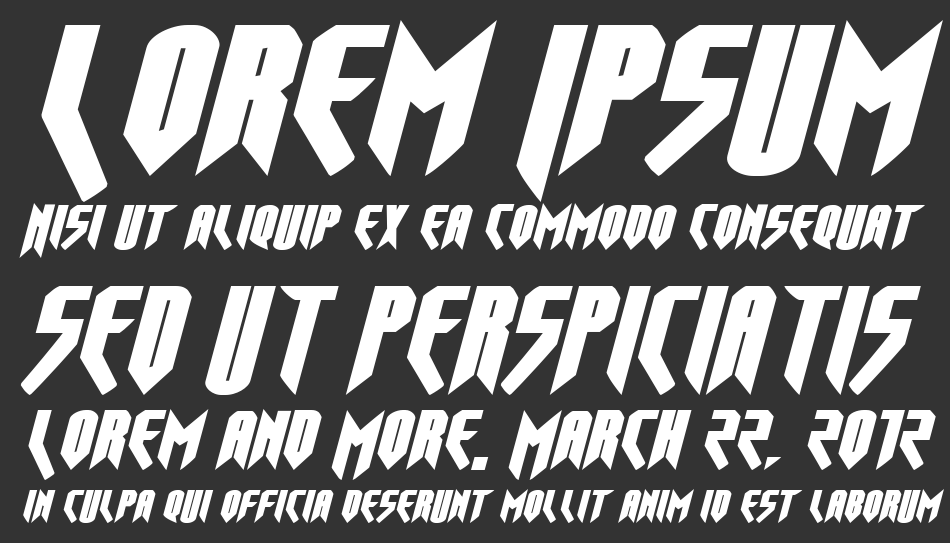 Opus Magnus Expanded Italic, Expanded Italic