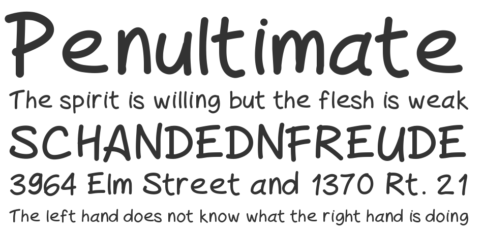 Peax Handwriting font