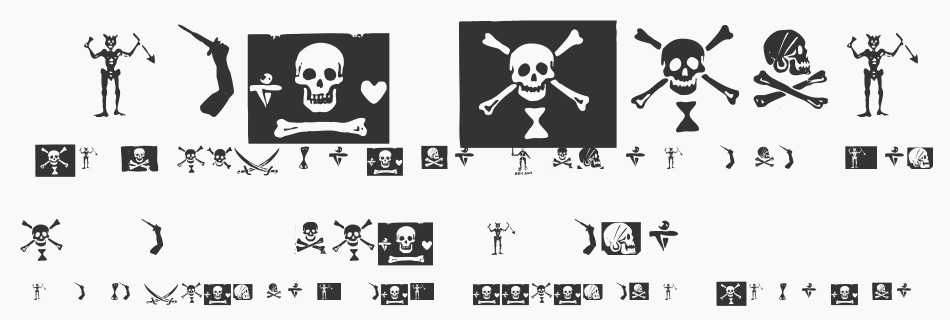 Pirates PW font