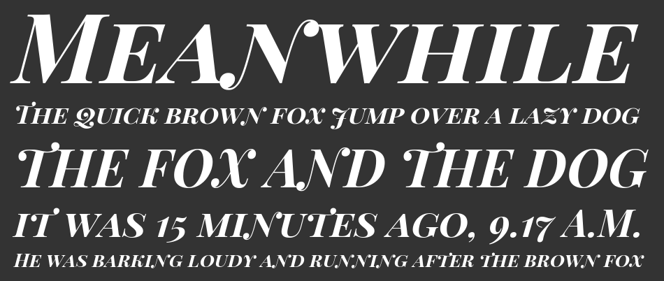 Playfair Display SC, Bold Italic