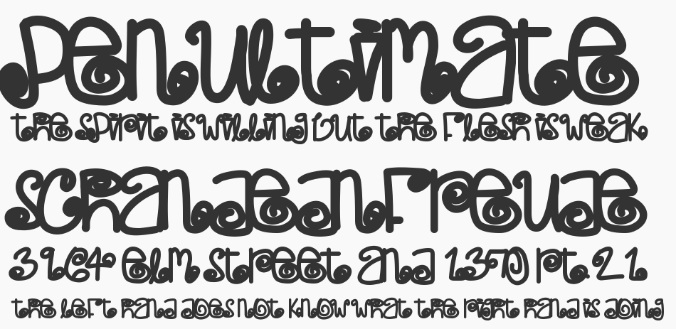 Poetic Justice font