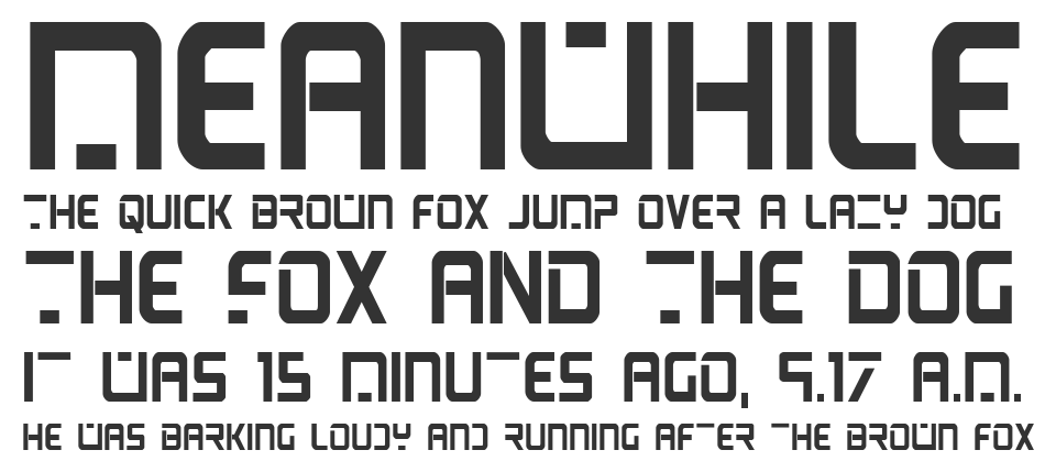 PsYonic VII Bold Condensed, Bold Condensed