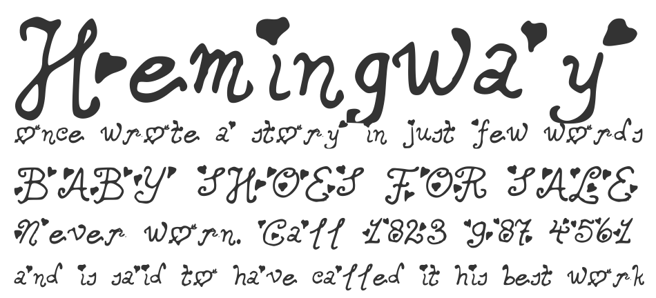 Secret Love Letters font