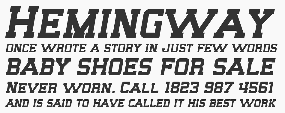 SF Big Whiskey font