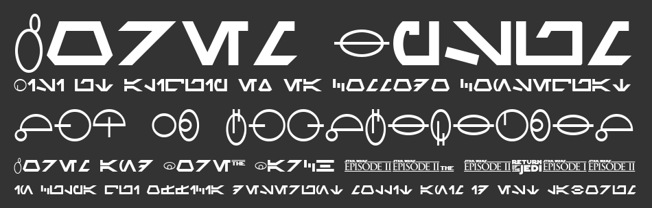 SF Distant Galaxy Symbols font