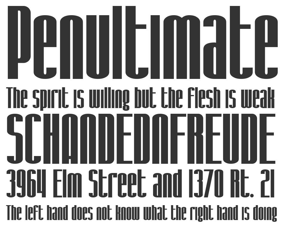 SF Iron Gothic font