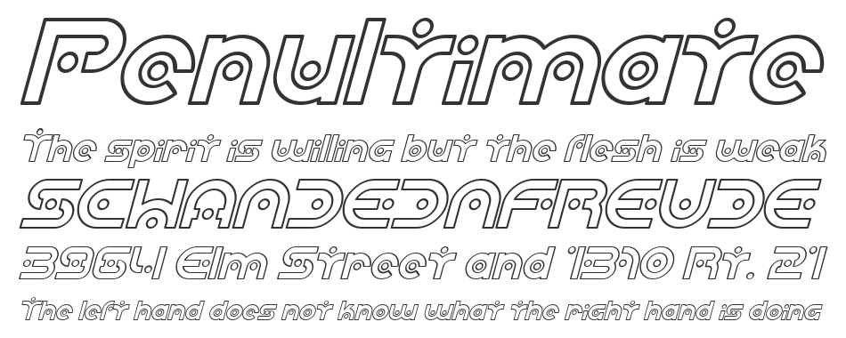 SF Planetary Orbiter Outline, Italic
