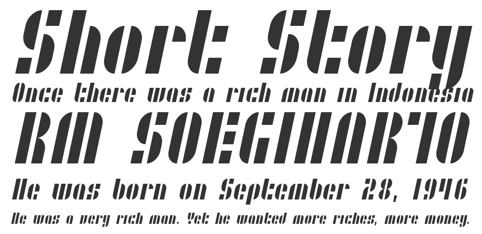 SF RetroSplice Condensed, Regular