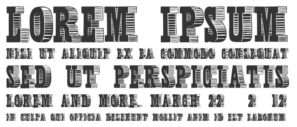 Shady Characters font
