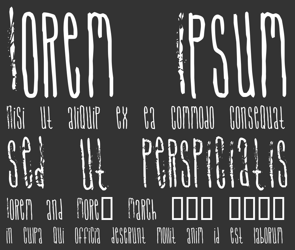 Signal to Noize font