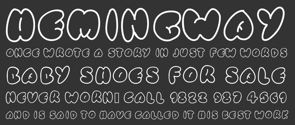 Simple Rounded font