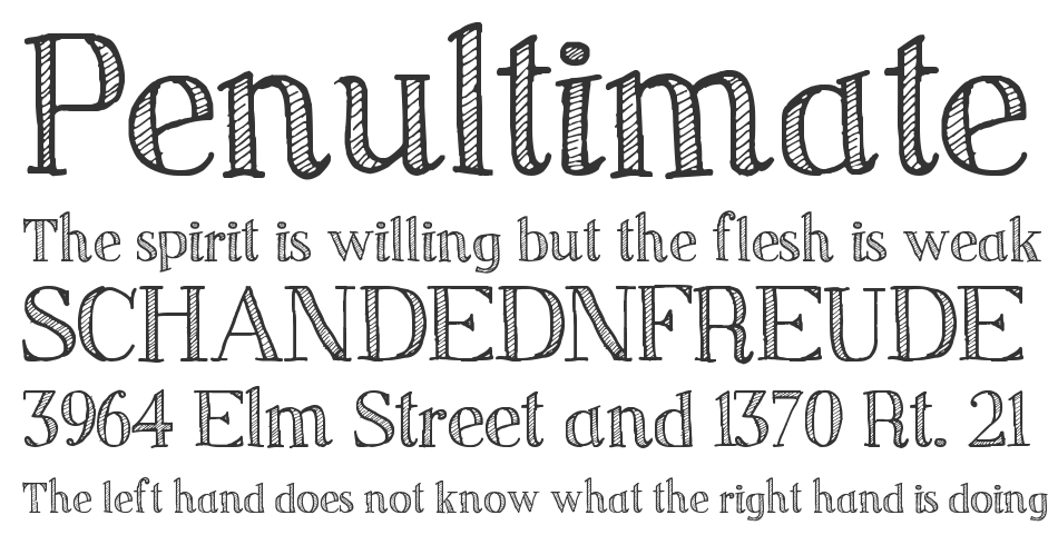 Sketch Serif Font | Sketch Serif Typeface | Free Fonts and