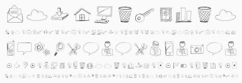 Sketch Icons font