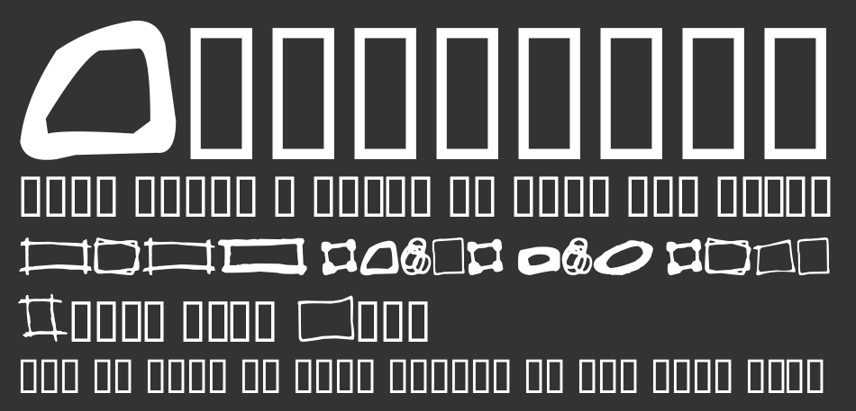 Some Boxes font