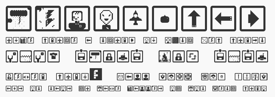 Space Game Icons font