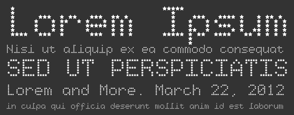 Starry Type font
