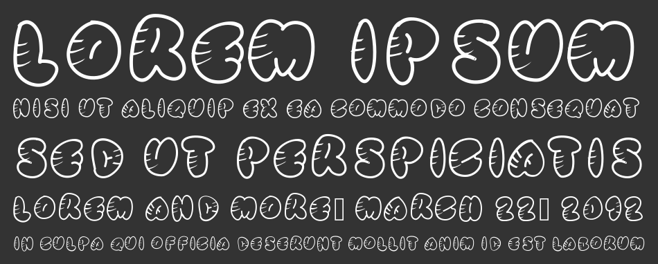 Stripped Rounded font