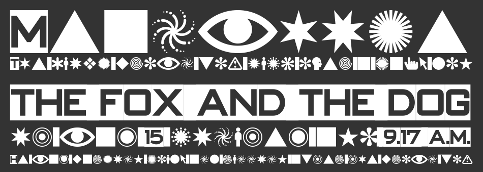 Swish Buttons font