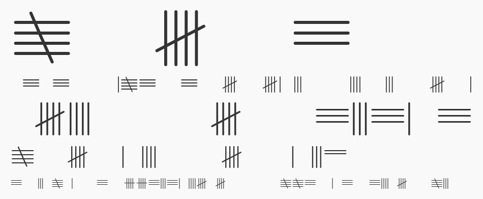 Tally Mark font