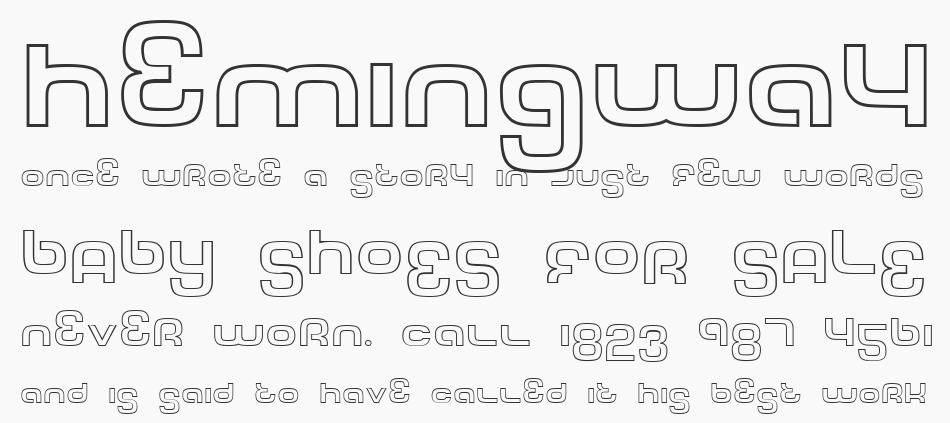 Tech Font Outline, Regular