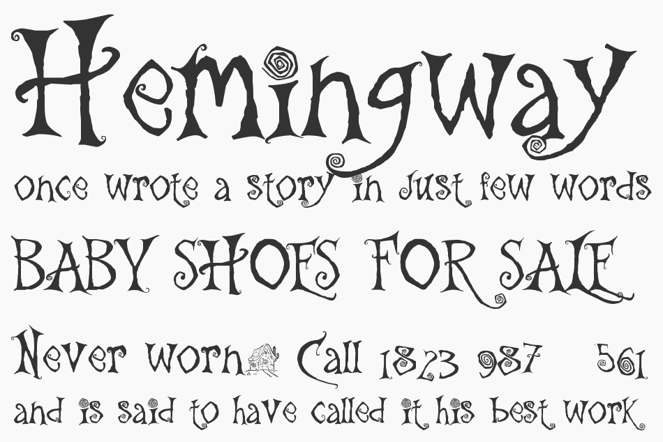 The Gingerbread House font