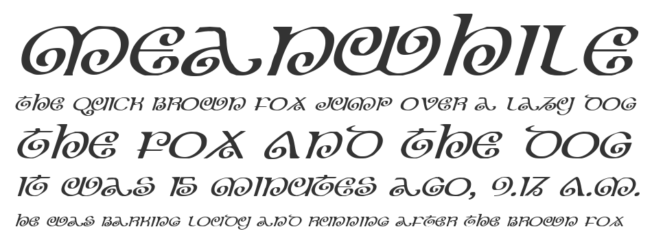 The Shire Expanded Italic, Expanded Italic